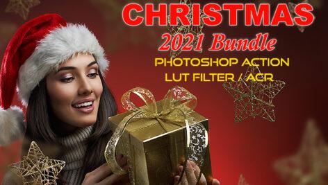 پکیج کریسمس 2021 اکشن فتوشاپ و لات رنگی و پریست کمرا راو فتوشاپ Photoshop Actions, ACR, LUT Presets