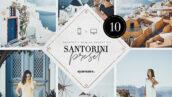10 پریست لایت روم حرفه ای تم روشن Santorini Lightroom Presets Bundle