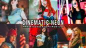 12 پریست لایت روم پرتره سینمایی و پریست کمرا راو فتوشاپ Cinematic Neon Portrait Presets