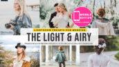 20 پریست لایت روم حرفه ای تم هوای عاشقانه Light Airy Lightroom Preset