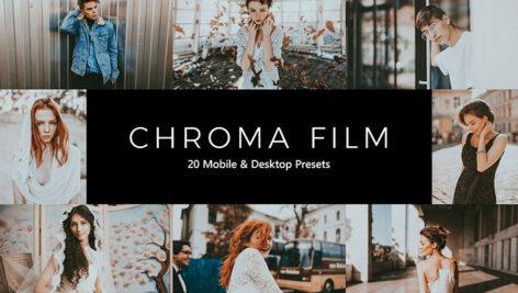 20 پریست لایت روم سینمایی و پریست کمرا راو و لات رنگی Chroma Film LR Presets