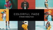 20 پریست لایت روم سینمایی و پریست کمرا راو و لات رنگی Colorful Fade LR Presets