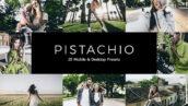 20 پریست لایت روم و پریست کمرا راو و لات رنگی تم رنگ پسته ای Pistachio Lightroom Presets & LUTs