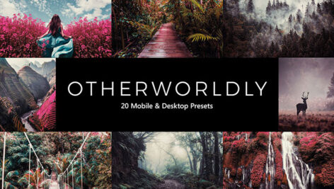 20 پریست لایت روم و پریست کمرا راو و لات رنگی دنیای عجایب Otherworldly LR Presets