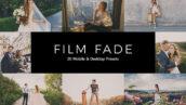 20 پریست لایت روم و پریست کمرا راو و لات رنگی فیلم رنگی Film Fade Lightroom Presets & LUT