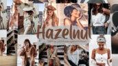 24 پریست لایت روم حرفه ای تم رنگ فندق Hazelnut Lightroom Presets