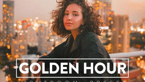 30 پریست حرفه ای لایت روم تم طلایی GOLDEN HOUR Lightroom Preset
