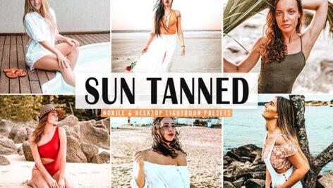 40 پریست لایت روم و پریست کمرا راو و اکشن فتوشاپ تم برنزه Sun Tanned Pro Lightroom Presets