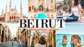 40 پریست لایت روم و پریست کمرا راو و اکشن فتوشاپ تم بیروت پایتخت لبنان Beirut Pro Lightroom Presets