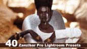 40 پریست لایت روم و پریست کمرا راو و اکشن فتوشاپ تم زنگبار آفریقا Zanzibar Pro Lightroom Presets