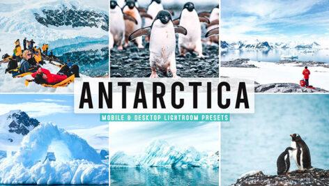 40 پریست لایت روم و پریست کمرا راو و اکشن فتوشاپ تم قطب جنوب Antarctica Pro Lightroom Presets