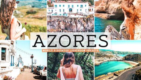 40 پریست لایت روم و کمرا راو و اکشن فتوشاپ تم آزور پرتغال Azores Lightroom Presets