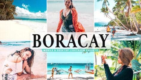 40 پریست لایت روم و کمرا راو و اکشن فتوشاپ تم بوراکای Boracay Lightroom Presets