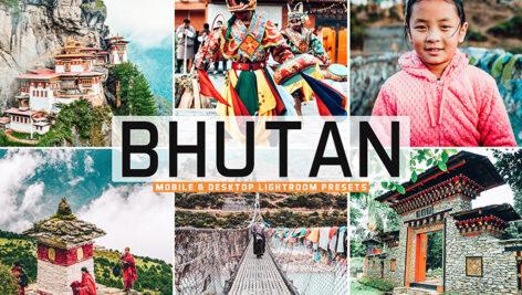 40 پریست لایت روم و کمرا راو و اکشن فتوشاپ تم کشور بوتان Bhutan Lightroom Presets