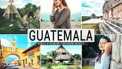40 پریست لایت روم و کمرا راو و اکشن فتوشاپ تم گواتمالا Guatemala Lightroom Presets