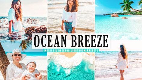 40 پریست لایت روم و Camera Raw و اکشن فتوشاپ تم نسیم اقیانوس Ocean Breeze Mobile & Desktop Lightroom Presets