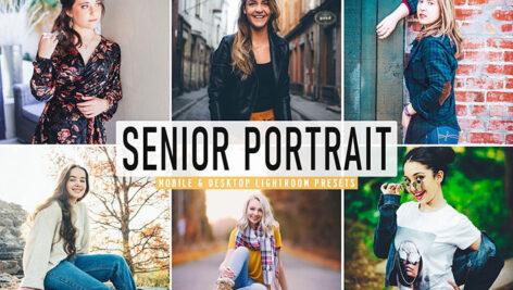 40 پریست لایت روم پرتره و پریست کمرا راو و اکشن فتوشاپ Senior Portrait Pro Lightroom Preset