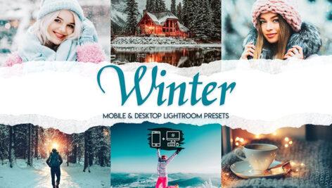 60 پریست لایت روم زمستان و پریست کمرا راو فتوشاپ Winter Premium Lightroom Presets