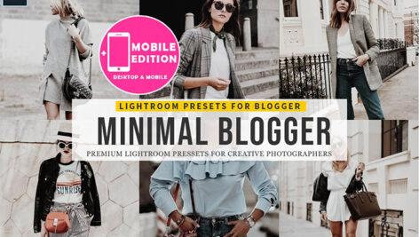 9 پریست لایت روم بلاگر و پریست کمرا راو فتوشاپ Minimal blogger Lightroom Presets