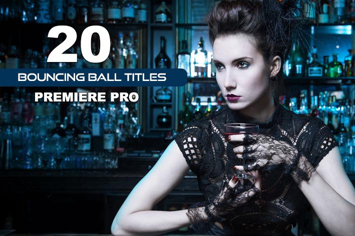 دانلود 20 تایتل آماده پریمیر پرو با افکت توپ Bouncing Ball Titles