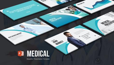 قالب آماده پاورپوینت تم پزشکی Medical PowerPoint Presentation