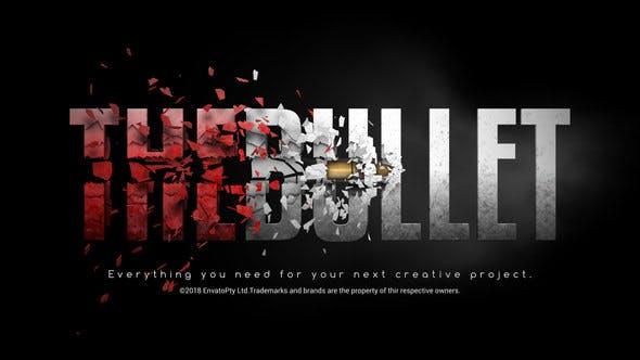 پروژه آماده افتر افکت لوگو رزولوشن 4K با موزیک افکت شلیک گلوله Bullet Reveal