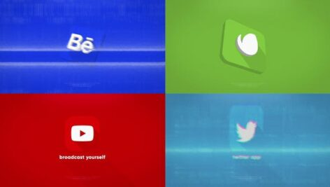 پروژه آماده افتر افکت لوگو 3 بعدی رزولوشن Ultra HD با موزیک Clean 3D Logo