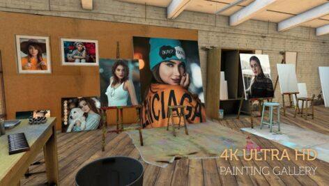 پروژه آماده افتر افکت هنری ۲۰۲۱ با موزیک Photos on canvas in an Artist studio