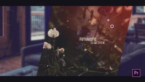 پروژه آماده پریمیر اسلایدشو با موزیک افکت مدرن Futuristic Slideshow For Premiere Pro