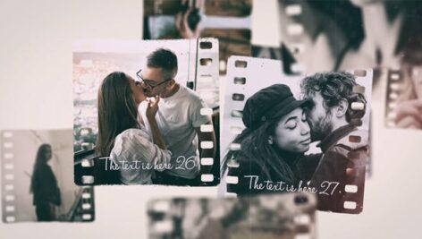 پروژه اسلایدشو افتر افکت تم لحظات عاشقانه Beautiful Moments Slideshow