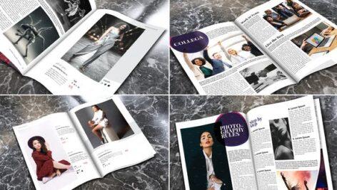 پروژه افتر افکت با موزیک تبلیغات مجله Elegant Universal Promo Magazine