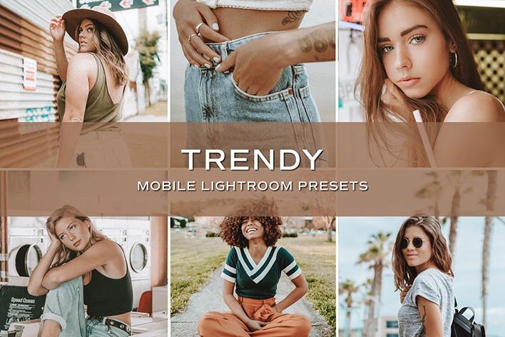 10 پریست لایت روم حرفه ای بلاگر تم مد روز Trendy Blogger Lightroom Presets