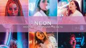10 پریست لایت روم حرفه ای تم رنگی نئون Neon Lightroom Presets (1)