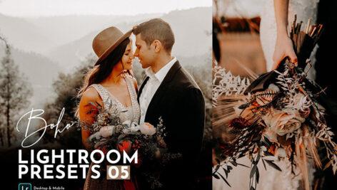 20 پریست عروسی حرفه ای لایت روم Boho Wedding Lightroom Presets Pack