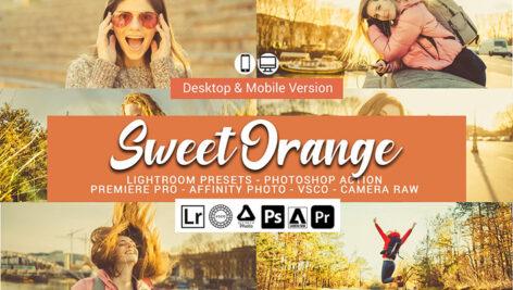 20 پریست لایت روم رنگی و اکشن و لات رنگی فتوشاپ Sweet Orange Lightroom Presets