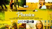 20 پریست لایت روم سینمایی و اکشن و لات رنگی فتوشاپ Phoniex Lightroom Presets