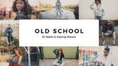 20 پریست لایت روم و لات رنگی تم مدرسه قدیمی Old School Lightroom Presets & LUTs