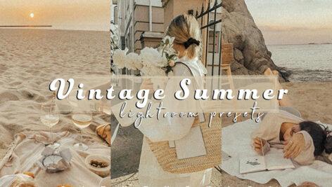 24 پریست لایت روم حرفه ای تم نویز تابستانی Grainy VINTAGE SUMMER Film Presets