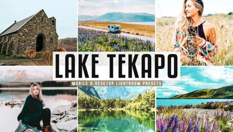 40 پریست لایت روم و کمرا راو و اکشن فتوشاپ تم دریاچه تکاپو Lake Tekapo Lightroom Presets