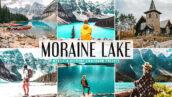 40 پریست لایت روم و کمرا راو و اکشن فتوشاپ تم دریاچه مورین Moraine Lake Lightroom Presets