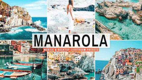 40 پریست لایت روم و کمرا راو و اکشن فتوشاپ تم مانارولا Manarola Lightroom Presets