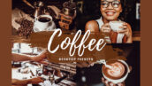 7 پریست لایت روم حرفه ای تم قهوه COFFEE Desktop Lightroom Presets