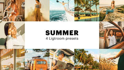 8 پریست لایت روم تابستان دسکتاپ و موبایل Summer Lightroom Presets