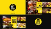 پروژه آماده افتر افکت با موزیک منوی تخفیف رستوران Royal Offer Food Menu Promo