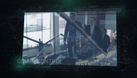 پروژه آماده افتر افکت معرفی شرکت با افکت نویز Digital Circuit Slides