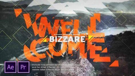 پروژه آماده پریمیر اسلایدشو با موزیک افکت پارالاکس Bizarre Parallax Slideshow