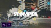 پروژه آماده پریمیر اسلایدشو با موزیک افکت پارالاکس Stomper Fast Opener