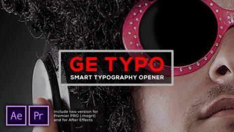 پروژه آماده پریمیر با موزیک تیتراژ حرفه ای تایپوگرافی The Typo Smart Opener