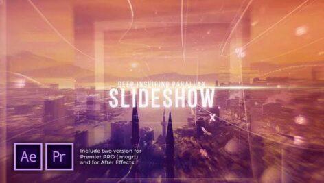 پروژه پریمیر اسلایدشو با موزیک پارالاکس فریم Deep Inspiring Parallax Slideshow