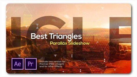 پروژه پریمیر اسلایدشو با موزیک پارالاکس مثلث Best Triangles Parallax Slideshow